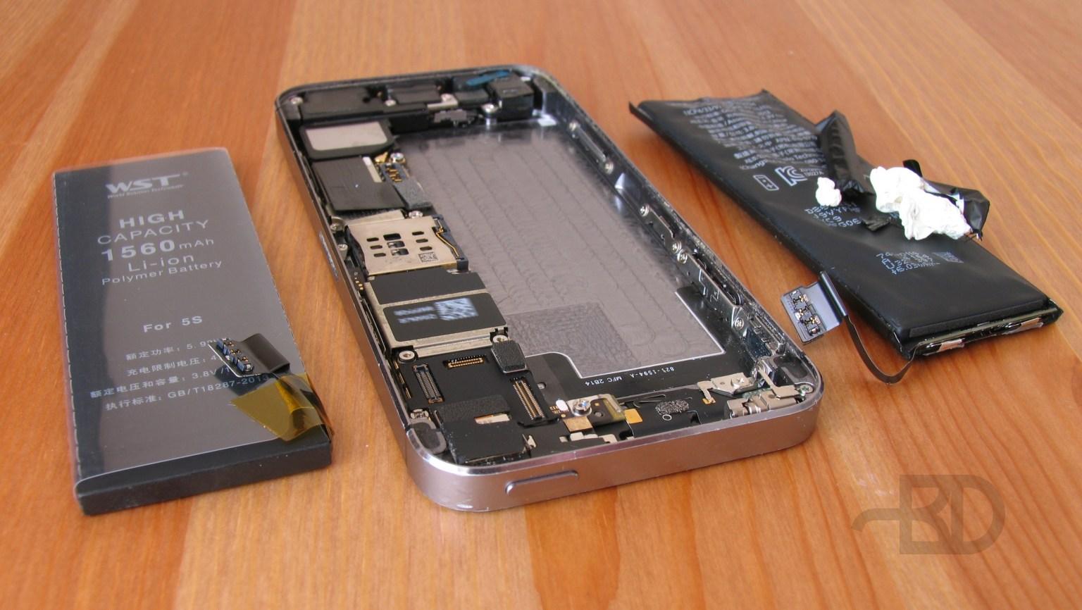 Замена аккумулятора в iPhone 5S